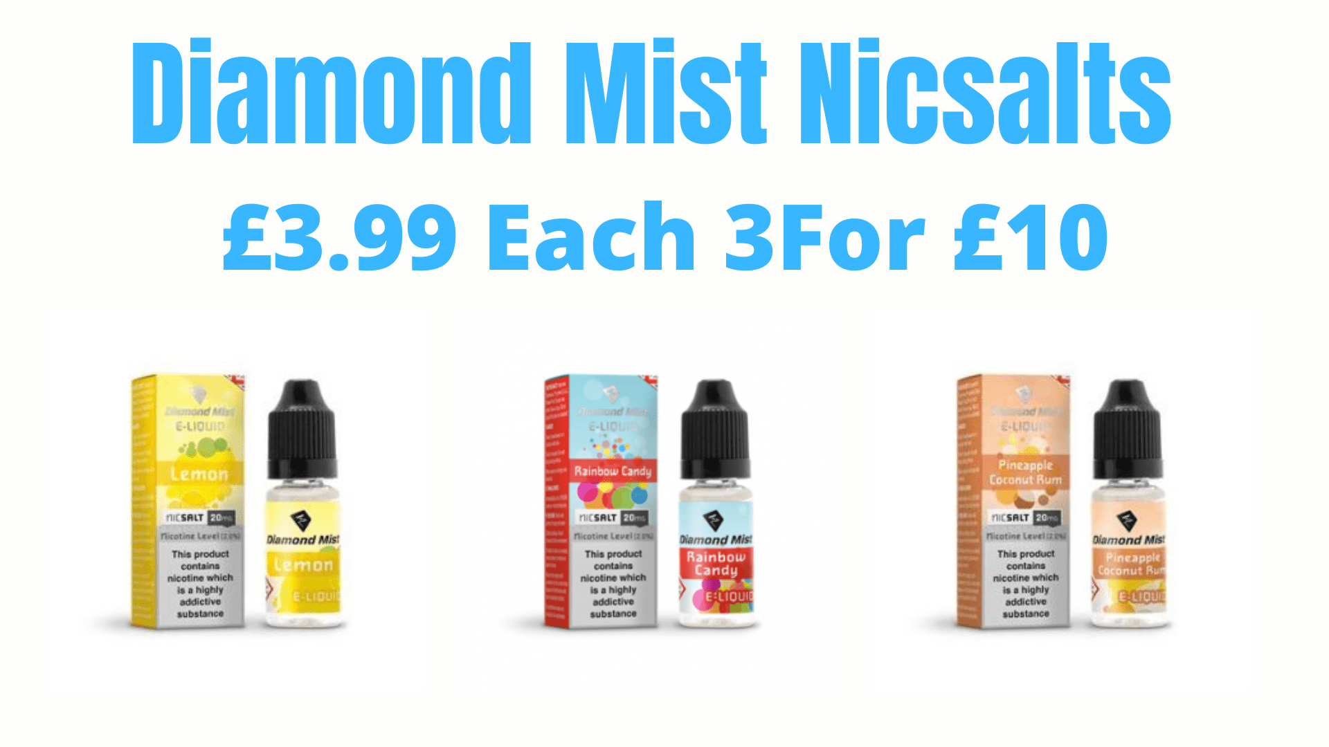 Diamond mist nicsalt deal