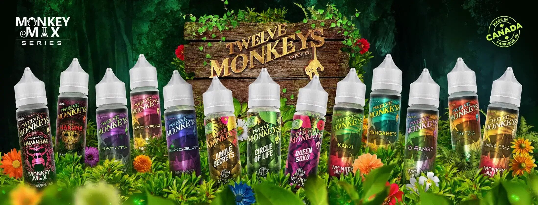 Twelve monkeys eliquid banner edinburgh