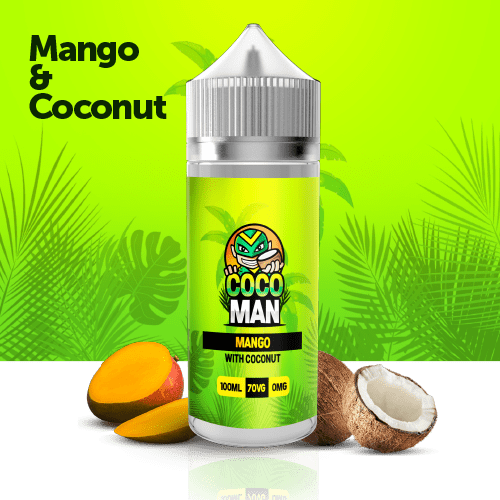 Cocoman Mango coconut 100ml 9.99 liquid edinburgh